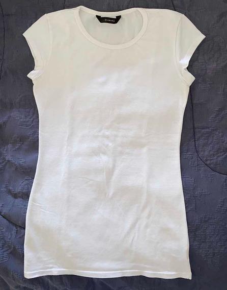 Remera Elastizada De Mujer Akiabara Blanca T. 1