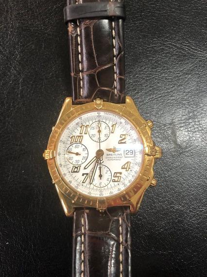 Breitling Chronomat Em Ouro 18k, Impecável