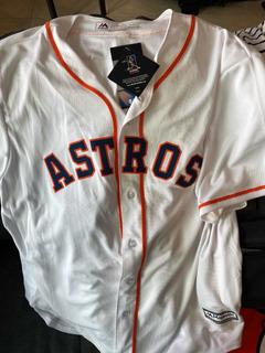 Jersey Blanco Astros Coldbase