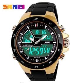 Relógio Digital/analogico Esporte Masculino