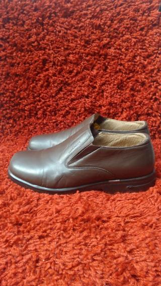 343 - Sapato Ferracini, Em Couro Legítimo, Marrom