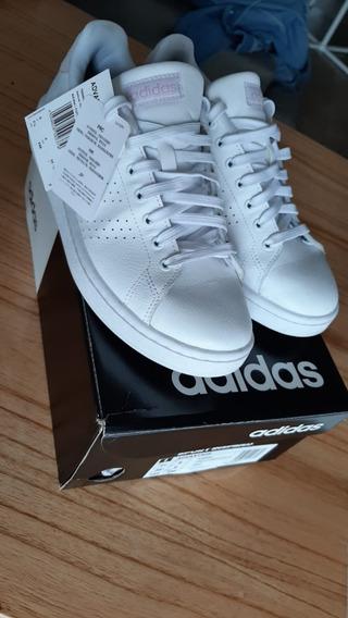 Zapatillas adidas Advantage Blancas Talle 38