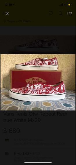 Vans Tenis Otw Repeat Red/true White Mx29