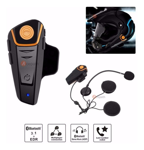 Intercomunicador Bluetooth Kit Manos Libres Casco Moto Bts2