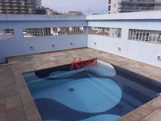 Cobertura Com 3 Dormitórios À Venda Por R$ 1.500.000,00 - Gonzaga - Santos/sp - Co0263