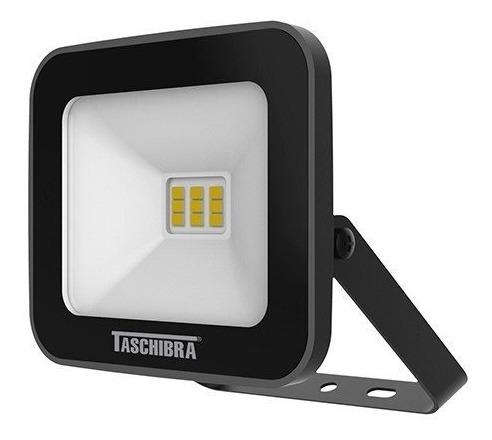 Refletor 3000k Pr Taschibra Tr Led Slim 10w Luz Amarela Biv