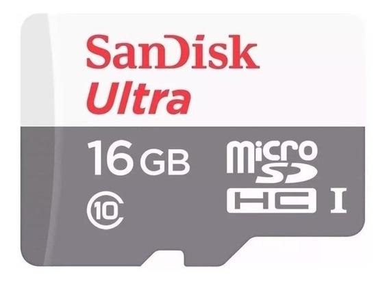 Cartão Sandisk Ultra 16gb Microsdhc Uhs-i 16gb 80mb/s Clas10