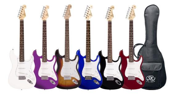 Guitarra Electrica Stratocaster Sx Fe-1 Con Funda - Cuotas