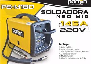 Soldadora Mig/mag 145a De 220v Porten Nuevo Con Garantia