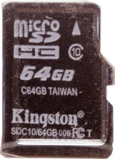 Memoria Micro Sd 64 Gb Con Adaptador Kingston E6063