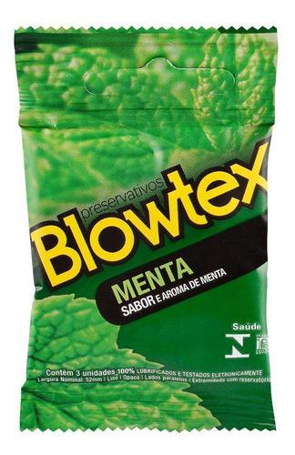 Imagem 1 de 6 de Preservativo Blowtex Menta C/ 3 Unidades