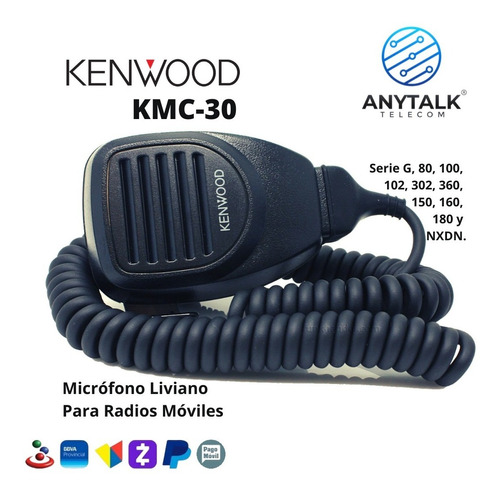 Microfono Kenwood Kmc-30 Para Radio Base Tk8360