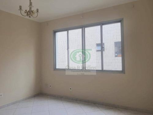 Imagem 1 de 18 de Apartamento 2 Dormitórios - Prédio C/ Elevador, Frente E Vista Livre, Garagem Demarcada - R$ 2.100, - Campo Grande - Santos - Ap6617