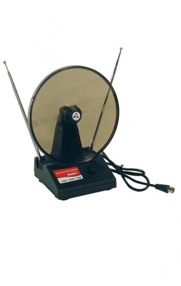 Antena Digital Compativel Uhf Vhf E Fm Interna