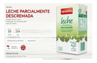 Leche Veronica Descremada Larga Vida 12u X 1lt Mataderos
