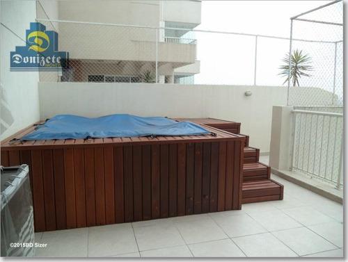 Cobertura Com 3 Dormitórios À Venda, 155 M² Por R$ 1.250.000,00 - Campestre - Santo André/sp - Co0468