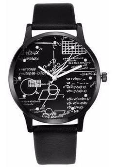 Relógio Quadro Verde Matemática Fração Equação Matemático