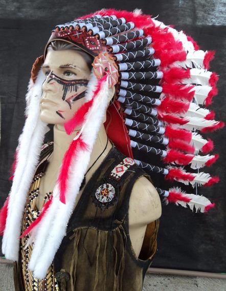 Cocar Indígena Chefe-ceremonial Xamanismo
