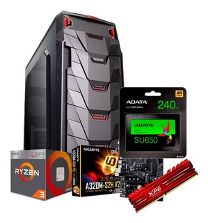 Pc Gamer Ryzen 3 2200g Ram 8gb Ssd 240gb Fortnite Lol Pc6