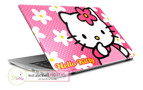 Skin Laptop Hello Kitty Decora Y Protege + Instalacion Adhes