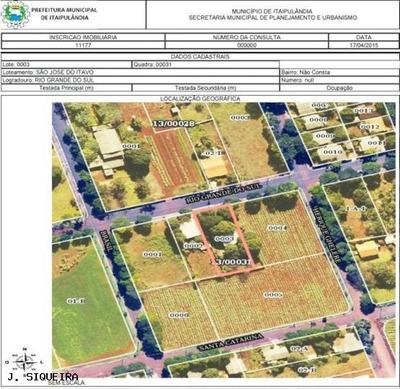 Casa A Venda Em Itaipulândia, São José Do Itaguo, 3 Dormitórios - 069