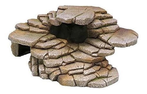 Pennplax Shale Step Ledge Y Cave Hideout Medium Aquarium Res