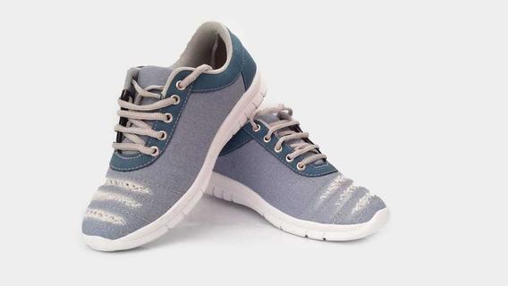 Sapato Feminino Jeans Claro Casual