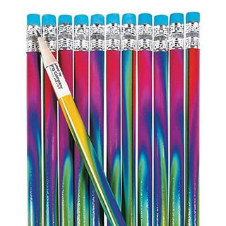 Fun Express Tie-dyed Pencils - 24 Piezas