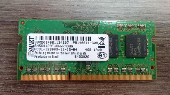 Memória Smart 4gb Ddr3 1rx8 Pc3l 12800s 1600mhz