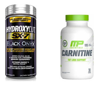 Hydroxycut Sx-7 Black Muscletech + Carnitina Muscle Pharm