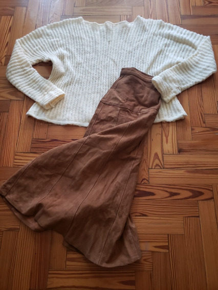Sweater Punto Ingles Mohair Color Manteca