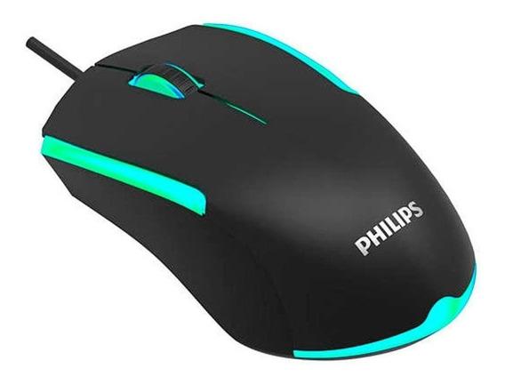 Mouse Gamer Philips G314 Com Fio 1200dpi 3 Botões