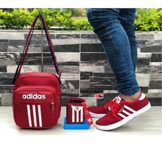Zapatos, Bolso Deportivo Y Billetera adidas Para Hombre