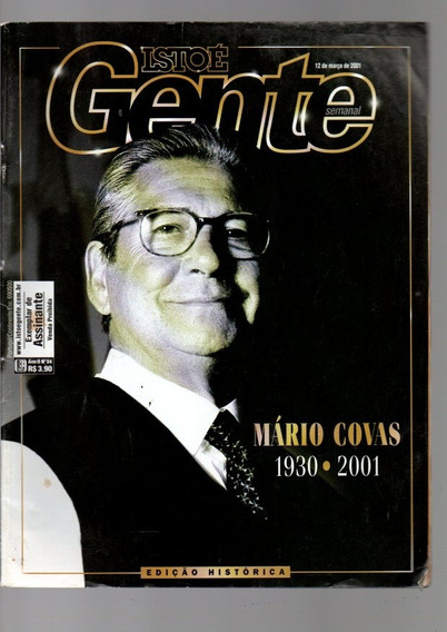 Revista Istoé Gente Mário Covas 1930-2001 Nº 84 Março/2001