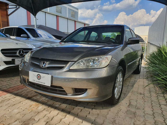 Honda Civic 1.7 Lxl Aut. 2005 Cinza - Gas,