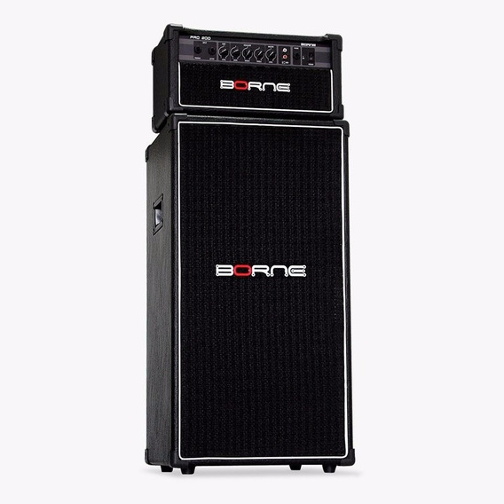 Caixa Borne Contra Baixo Pro210p + Amplificador Pro200