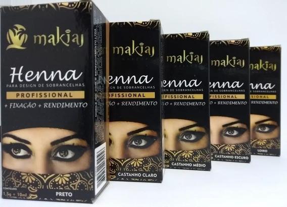 Henna Sobrancelhas Makiaj Rendimento E Fixação Rena Preta