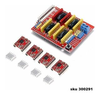 Tarjeta Expansion + 4pcs A4988 Para Arduino Impresora 3d W03