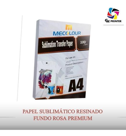Papel Sublimático Fundo Rosa A4 400 Folha Mecolour Original
