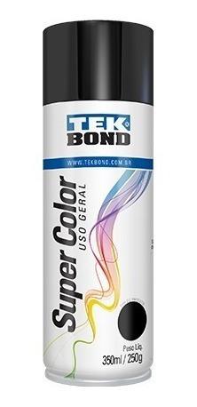 Tinta Spray Preto Brilhante Uso Geral 350ml/250g Tekbond