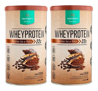 2x Whey Protein 450g Nutrify Total 900g Melhor Que Essential