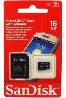 Cartão De Memória Sandisk 16gb Original Frete Grátis Envio Carta Registrada