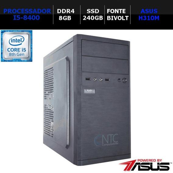 Microcomputador Ntc Core I5 8400 Memória 8 Gb Ssd 240gb