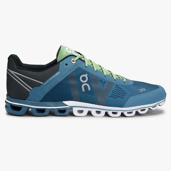 Tênis On Running Cloudflow Azul/verde Masculino