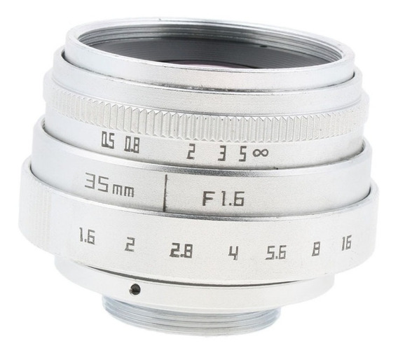 35mm F1.6 Aps - C C Lente Monte Cctv Para Fujifilm Fx Nex Mi