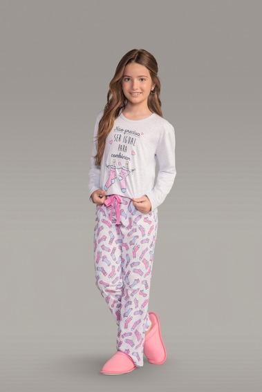 Pijama Manga Longa Infantil Ref - 111750