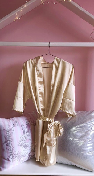 Levantadora-kimono En Satin Lenceria Talla Unica Sexi Barato