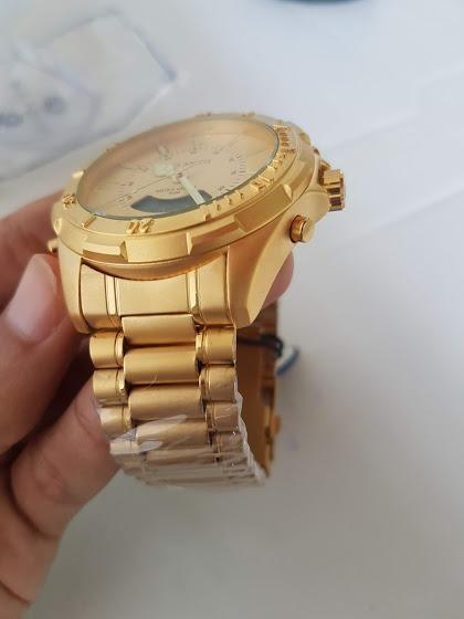 Relógio Atlantis Gold Fosco A3482