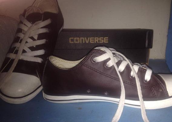 Converse De Cuero Marrones, Nuevas.