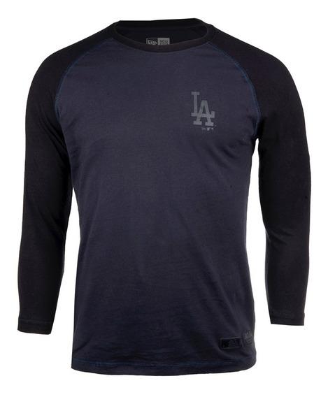 Playera New Era Black Edition Dodgers De Los Ángeles Hombre